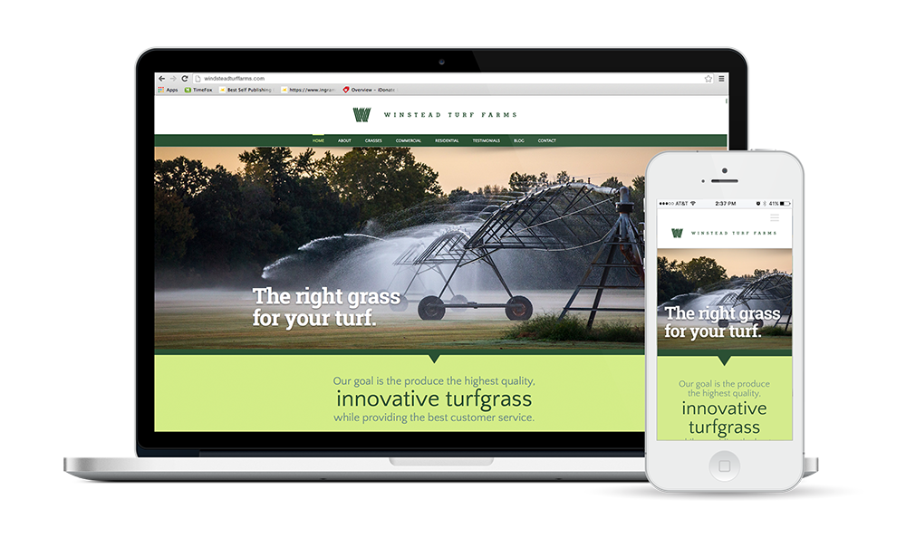 Winstead Turf Farms Website